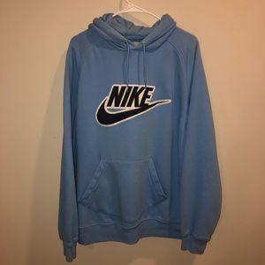 Nike Baby Blue Large logo Hoodie